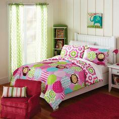 Kids Home Silly Girl Monkey Comforter Set