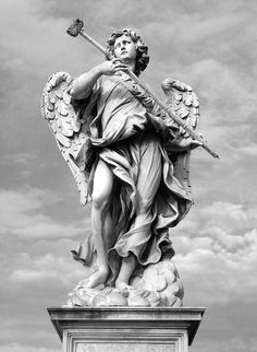 One of Bernini's Angels on the Ponte Sant'Angelo - Rome. S)
