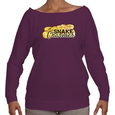 Snake Charmer Ball Python Ladies Three Quarter Sleeve - Available in 4 colors!