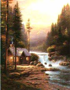Evening In The Forest ~ Thomas Kinkade
