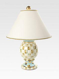 MacKenzie-Childs Parchment Check Globe Lamp
