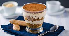 Creamy Dreamy Tiramisu Cups on www. Tiramisu Cups, Tiramisu Recipe, Cake In A Jar, Cravings, Pudding, Baking, Sweet, Ethnic Recipes, Ph
