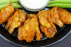 Oven baked chicken wings can be extra crispy just like fried! This will change the way you bake wings forever. Crispy, crunchy wings with no frying!