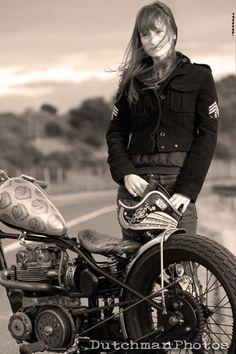 VISUAL GRATIFICATION: Sara Eileen & her Triumph Bobber