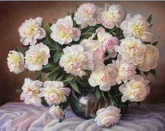 050317f12723 White Rose - Paint By Numbers Kit For Adults