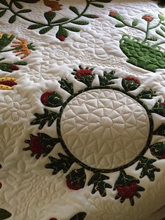 Quilting by Sun Porch quilts: Beyond the Cherry Tree quilt by Alice.  2015 AQS Quilt Week (Paducah)