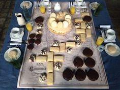 ALFAJOR CORDOBÉS: Gigante de tres capas, bañados en chocolates blacno, negro, glaseados. Rellenos de dulce de membrillo, de higo, de pera. Jugo de naranja