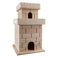 Wooden Bird Houses, Decorative Bird Houses, Bird Houses Diy, Fairy Houses, Bird House Plans, Bird House Kits, Wood Craft Supplies, Wooden Castle, Homemade Bird Houses