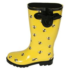 Ranger Women's Rain and Garden Boots - Bees Bumble Bee Honey, Honey Bees, Bumble Bees, Mellow Yellow, Black N Yellow, Garden Boots, Buzzy Bee, I Love Bees, Bee Jewelry