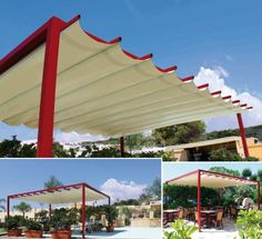 Pergola gazebo copertura ombreggiante 4x5 m PVC madelux.it 2 1720euro