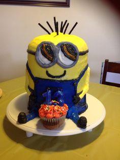Happy Minion Birthday - $65 Cakes By Stephanie, Happy Minions, Minion Birthday, Desserts, Food, Tailgate Desserts, Deserts, Essen, Postres