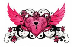 I want our kids names in this. Chest piece? key to my heart tattoo | Key to my Heart