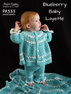 PA333-R Blueberry Baby Layette Crochet Pattern by Maggie Weldon. $8.11. 15 pages. Publisher: Maggie's Crochet (February 26, 2013)