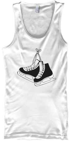 Fitness   Fitness Skate   Tank White Tank Top Front