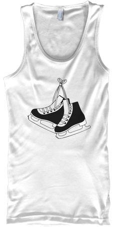 Fitness   Fitness Skate   Tank White Tank Top Front