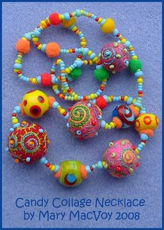 """Fuzzy Gems""; Felted Wool Beads by MerryFool! - WetCanvas"