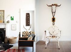 HOME-SPIRATION: Antler Decor via LOVE LETTERS TO HOME.