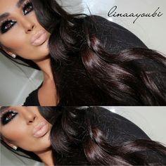 ♥ the eye make up Sexy Makeup, Kiss Makeup, Flawless Makeup, Gorgeous Makeup, Love Makeup, Gorgeous Hair, Beauty Makeup, Makeup Looks, Hair Makeup