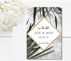 Excited to share the latest addition to my #etsy shop: Tropical Save the Date magnet-Marble  Save the Date-Custom save the date-Magnetic save the date-Wedding magnet-gold Save the Dates #weddings #invitation #white #modernsavethedate #marblesavethedate #wedding #rusticsavethedate #postcardmagnets