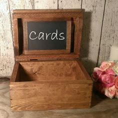 Rustic wedding card box, country wedding, barn wedding, wedding card box on Etsy, $69.95