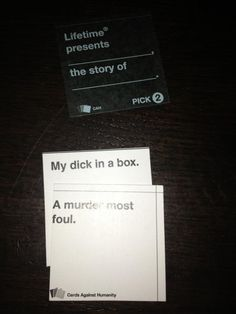 Lifetime Presents Cards Against Humanity