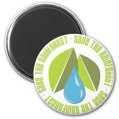 Save the Rainforest Earth Day Tees and Gifts Magnet - declare you care and get yours now!
