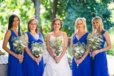 Karen and Chris {Intimate DIY Wedding } Blue Bridesmaids dresses by Posh Frocks. South African wedding Tulbagh