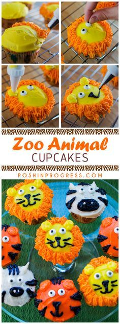Lions and tigers and...zebras? I decided to try my hand at cake decorating. So with a little YouTube help and Pinterest inspiration, I created zoo animal cupcakes for my Giada's 2nd birthday. Click to see the instructions or Pin It to save for later.