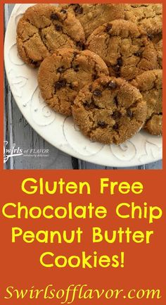 Gluten Free Chocolate Chip Peanut Butter Cookies are rolled in glistening sugar…