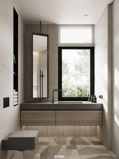 VILLAGGO HOUSE on Behance Natural Wood, Bathtub, Behance, Interior Design, Mirror, Modern, House, Furniture, Home Decor