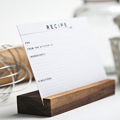 Like this recipe card holder
