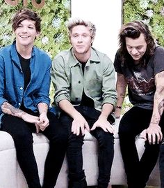 but then after they make eye contact harry looks off into the distance at management and they probably got mad so harry stops smiling and looks at louis and louis understands so he stops smiling and they both look down :(