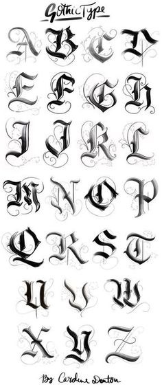 Gotisches Alphabet – … – Graffiti World Tattoo Lettering Styles, Graffiti Lettering Fonts, Gothic Lettering, Chicano Lettering, Gothic Fonts, Tattoo Typography, Gothic Script, Fonts For Tattoos, Cool Lettering
