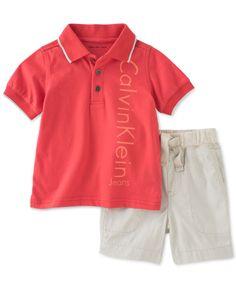 calvin klein shirt and shorts set