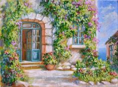 Картины (живопись) : Солнечный дворик