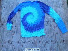 The Blues Spiral Tie Dye Long Sleeve Shirt