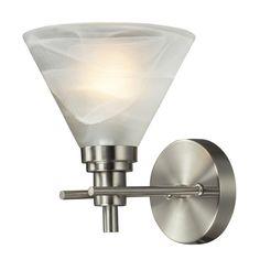 Elk Lighting Modern LED Sconce Wall Light with White Glass in Brushed Nickel Finish | 11400/1-LED | Destination Lighting