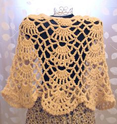 Something Old Something New Bridal Shawl by AStitchInTimeCraft, $75.00