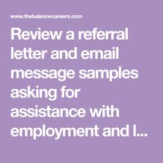 Sample letter requesting medical records business request referral review a referral letter and email message samples asking for assistance with employment and learn what spiritdancerdesigns Image collections