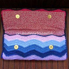 Criando Artes Carla: Clutch em Crochê - Carteira Milão