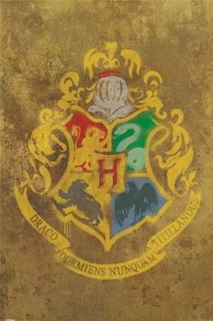 "Amazon.com - Harry Potter - Movie Poster (Hogwarts House Crest) (Size: 24"" x 36"") -"
