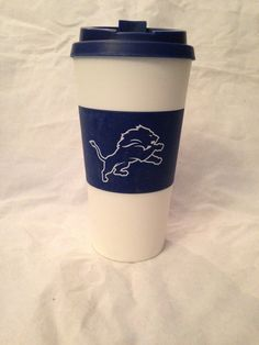 NFL Detroit Lions 16 oz. Travel Mug  www.mancavesonline.com