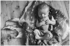 Axis Hide Deer Hunter Newborn Session // Designs by Karinda Texas Newborn Photography