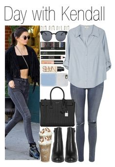 """• Day with Kendall"" by dianasf ❤ liked on Polyvore featuring Kendall + Kylie, Topshop, Joie, Yves Saint Laurent, Casetify, Maison Margiela, Quay, NARS Cosmetics, Bobbi Brown Cosmetics and Clarins"