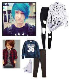 """Single....Again ,but I got my son at least which is great ~Aqua"" by bruhitsashley1213-anons ❤ liked on Polyvore featuring Topman, Vans, Karl Lagerfeld, men's fashion and menswear"