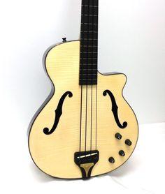Epiphone Zenith Fretless Semi-Hollowbody Electric Bass Guitar - Natural