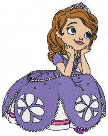 Dreamy Sofia machine embroidery design. Machine embroidery design. www.embroideres.com