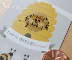24 Scratch Off Cards-Honey Bee