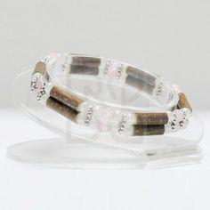 Bracelet double pur noisetier et quartz (18 cm) : Pour les douleurs articulaires, troubles digestifs, ulcères buccaux, problèmes de peau.