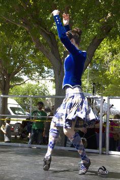 Kilt with blue jacket from the side Scottish Highland Dance, Scottish Highlands, Yoga Dance, Dance Art, Tartan, Plaid, Highland Games, Dance Photos, Blue Dresses